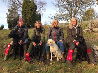 Bredared 20181101 Camilla & Tage, Anette & Tilo, Marie & Honey, Catarina & Sansa